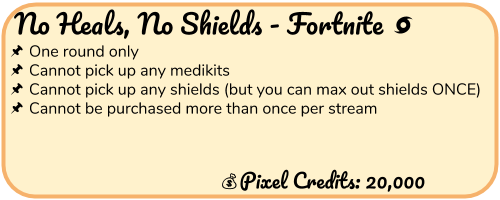 No Heals No Shields